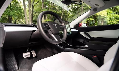 Dashboard of a Tesla vehicle